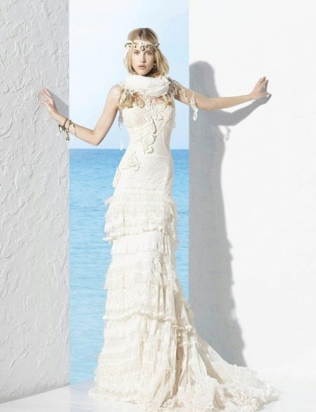 Свадебные платья в стиле бохо: виды и особенности (54 фото)