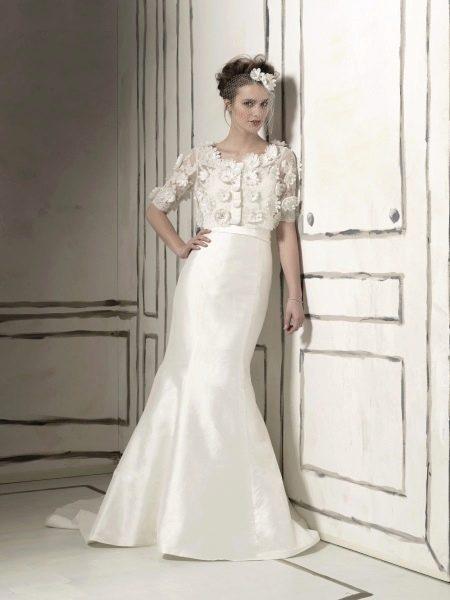 Свадебное платье из крепдешина