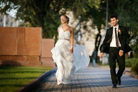 Свадебное платье, в котором комфортно находится