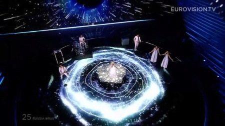 Полина Гагарина Евровидение 2015 платье со светодиодами