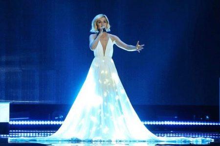 Платье Полины Гагариной - Евровидение 2015 со светодиодами