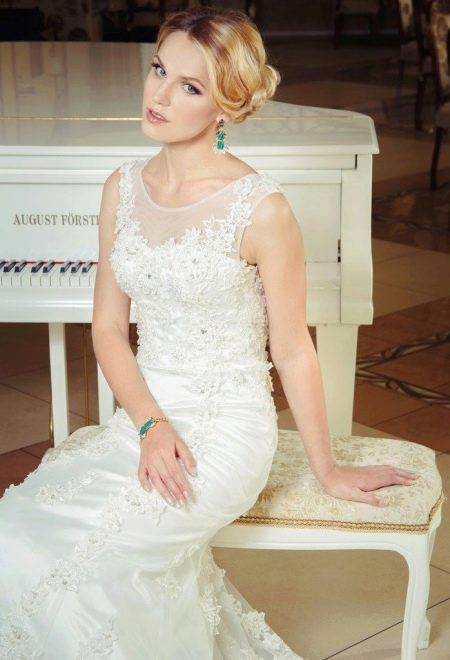 Свадебное платье кружевное от Anna Delaria