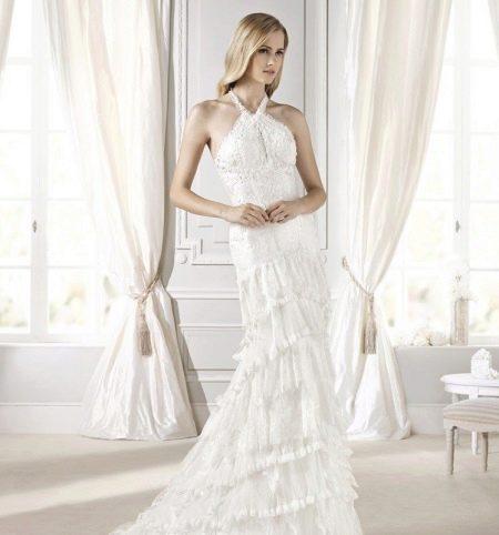 Свадебное платье с кружевом от La Sposa