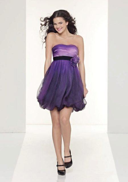 Вечернее платье с юбкой балон