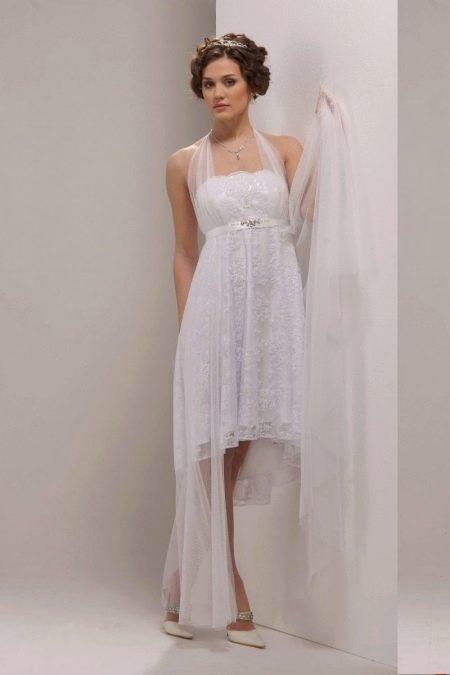 Короткое свадебное платье трансформер для беременных