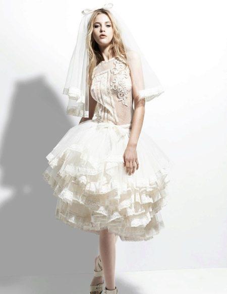 Свадебное короткое платье Йолана Криса