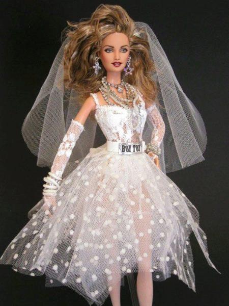 Свадебное платье для Барби в стиле Мадонны