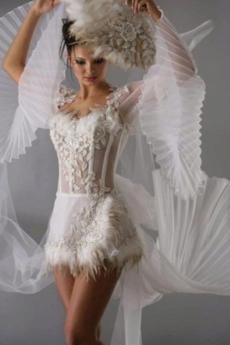 Ультракороткое свадебное платье