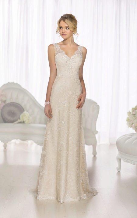 Свадебное платье с ажуром прямое