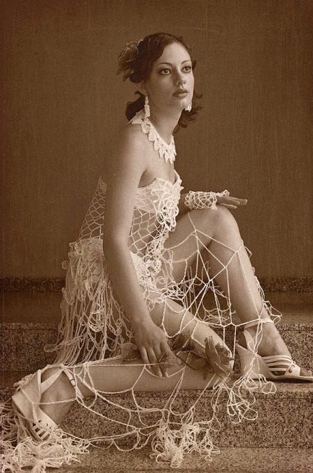 Свадебное платье-сетка