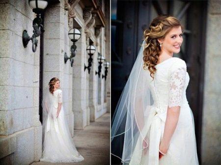 Аксессуары к свадебному скромному платью