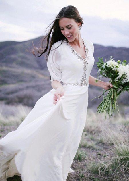Свадебное скромное платье Jenny Packham