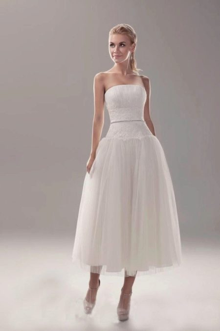 Свадебное платье в стиле New Look с заниженной талией