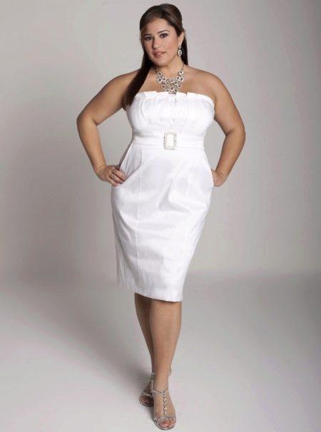 Свадебное платье футляр для полных