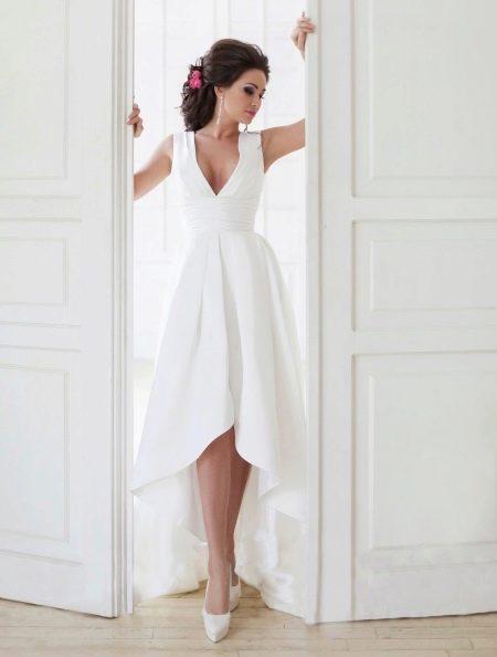 Свадебное платье миди до колена