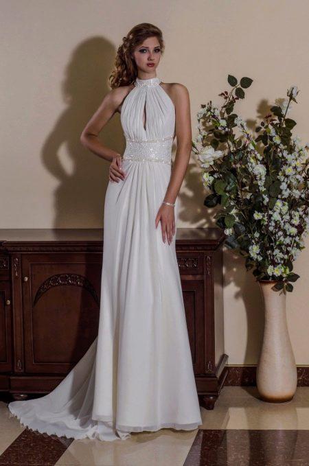 Недорогое свадебное платье ампир