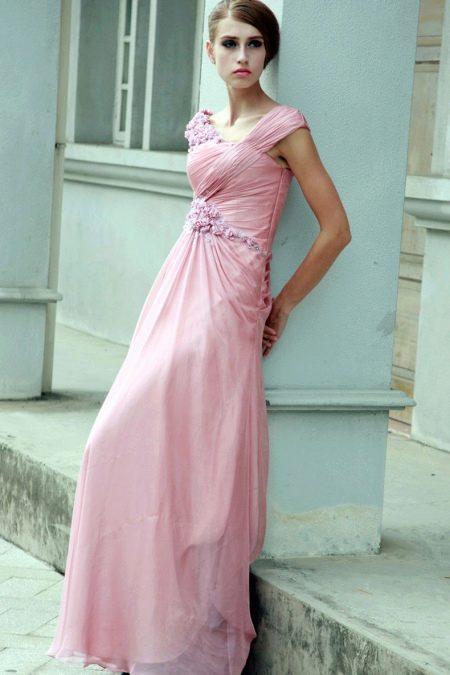 Свадебное платье вечернее розовое
