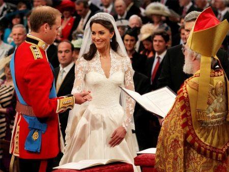 Свадебное платье Кейт Миддлтон с кружевными вставками