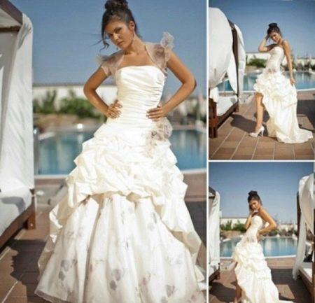 Свадебное платье-трансформер с отстегивающейся юбкой