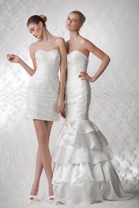 Свадебное платье с отстегивающейся юбкой русалка