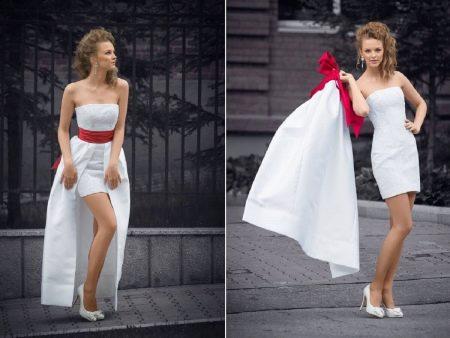 Платье-трансформер свадебное с накладной юбкой