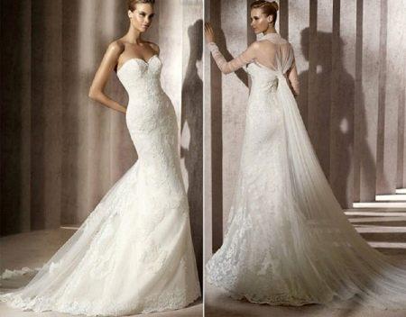 Свадебное платье-трасформер со шлейфом- накидкой