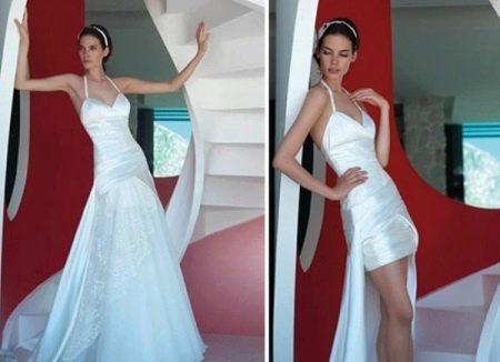 Прямое свадебное платье-трансформер