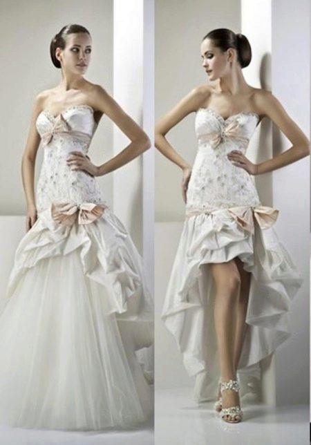 Свадебное платье-трансформер короткое спереди