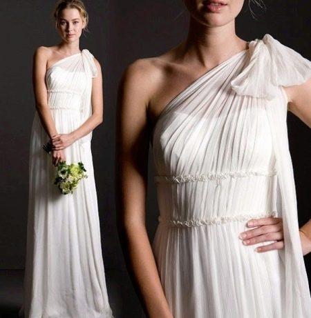 Свадебное платье в греческом стиле с обычной талией