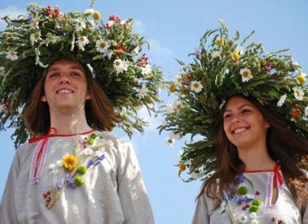 Свадебный венок для свадьбы в русском стиле
