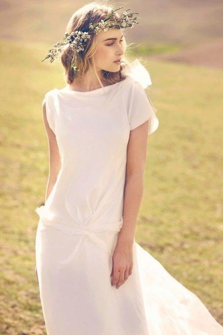Свадебное платье простое рустикальное