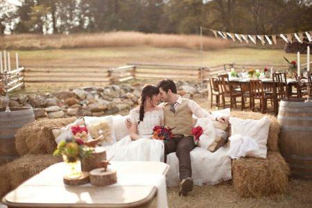 Осенняя свадьба в стиле рустик