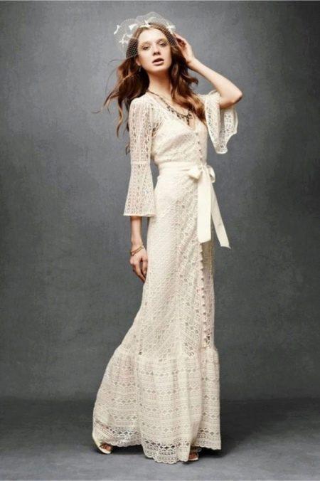 Свадебное платье рустик с поясом