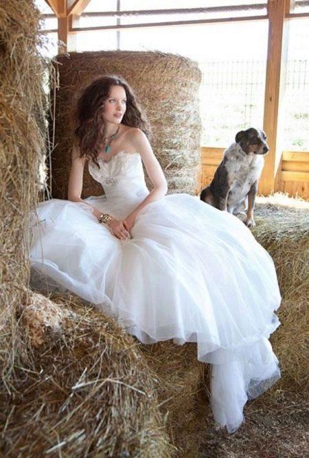 Платье свадебное в стиле рустик