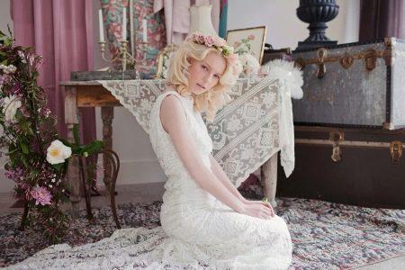 Свадебное платье в стиле рустик из кружева