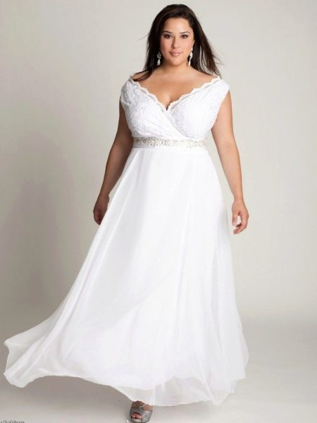 Свадебное платье для полных в греческом стиле
