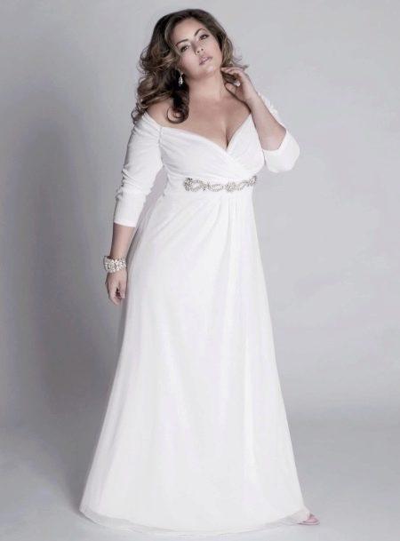 Красивое свадебное платье для полных