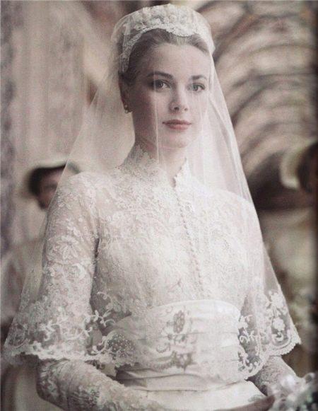 Свадебное платье Грейс Келли - покрытая голова