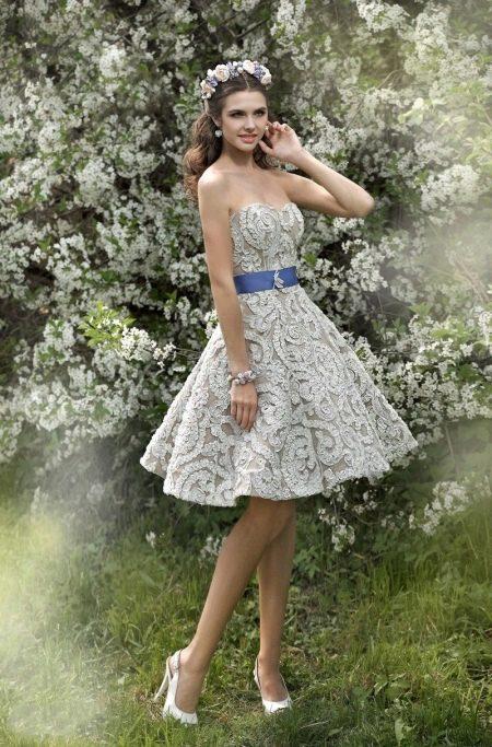 Свадебное платье короткое от Стрекоза