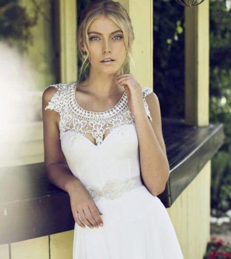 Свадебное платье от Рики Далал с кружевом
