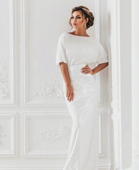 Свадебное платье с закрытым верхом