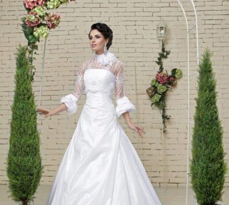 Украшения к свадебному платью с иллюзией