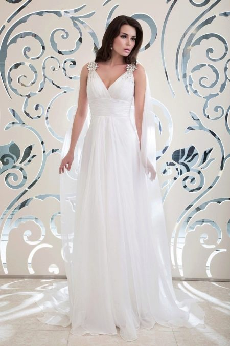 Свадебное платье ампир