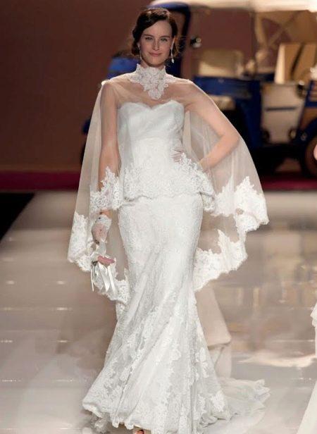 Свадебное платье с пончо