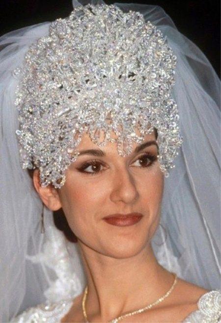 Свадебный головной убор Celine Dion