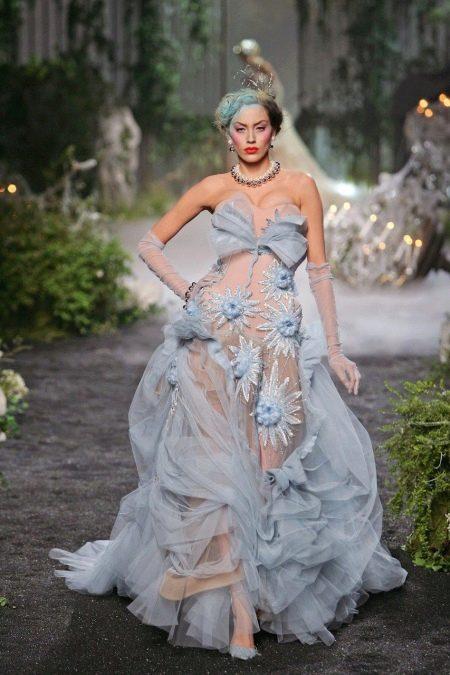 Свадебное платье страшное с бантом