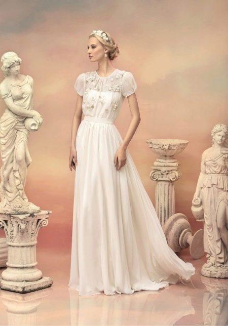 Свадебное платье в стиле винтаж с кружевным верхом