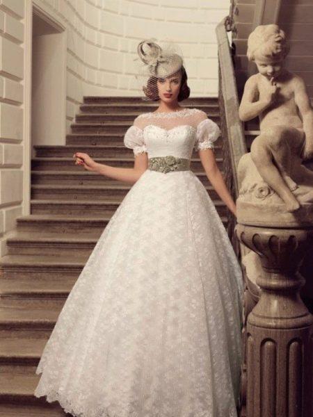 Свадебное платье стилизованное под старину