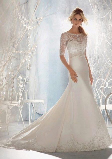 Свадебное платье закрытое русалка