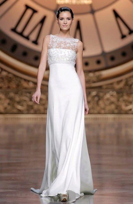 Платье ампир свадебное атлачное